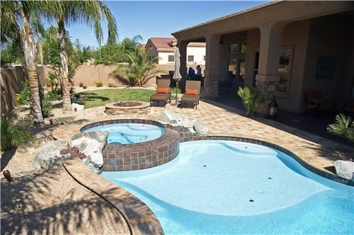 Tropical Arizona Pool Landscaping Network Arizona Backyard
