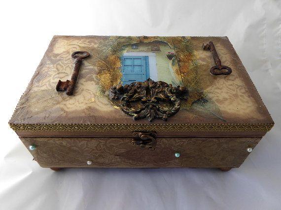 Decorative wood box wood jewelry box handcrafted wood box decorative wood box wood jewelry box handcrafted wood box unique keepsake box home hearth jewelry box unique gift rustic jewelry box solutioingenieria Image collections