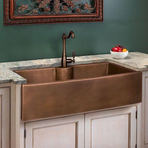 Deep copper apron-front sink | Home: Furniture + | Copper ...