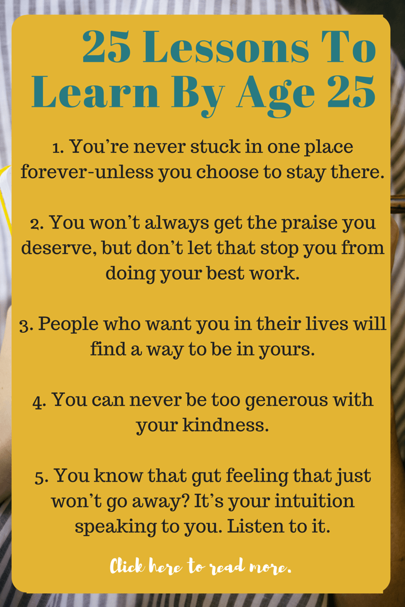 25 Lessons You Learn By 25 Old quotes, Birthday quotes