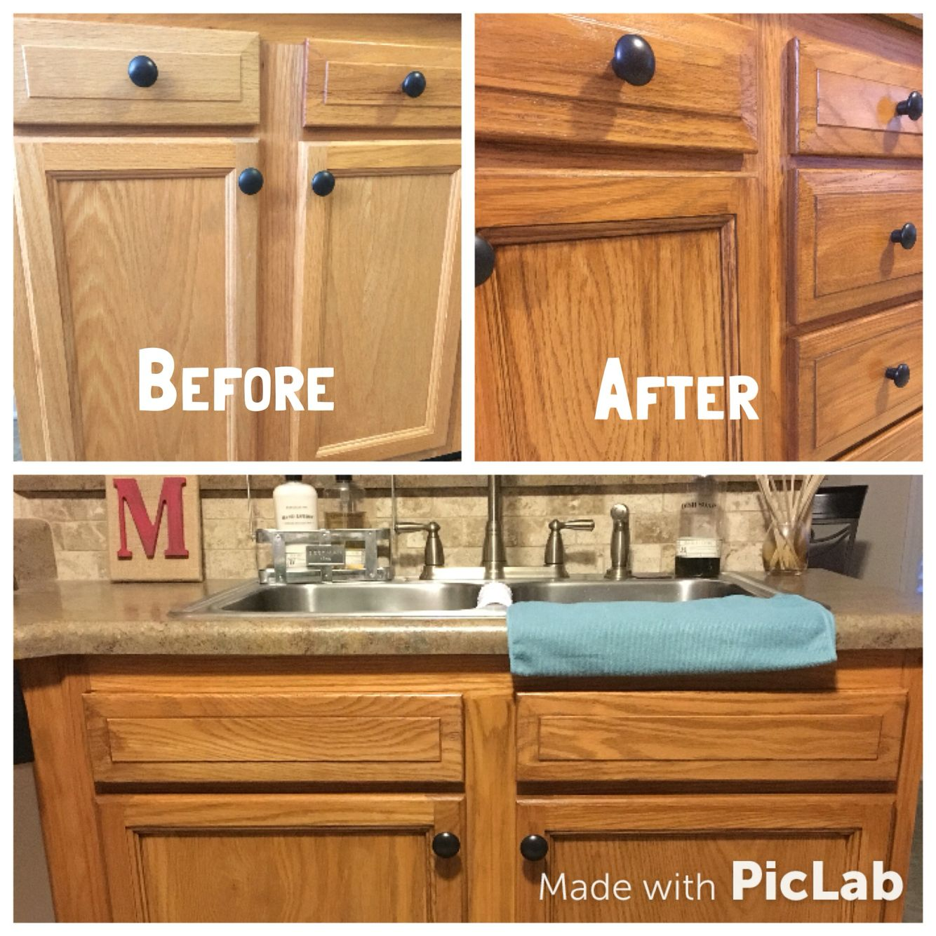 Honey Oak Cabinets Restained With Genera Finishes American Oak Gel Stain Cabinets Are Just A Shade O Oak Kitchen Remodel Kitchen Remodel Staining Oak Cabinets