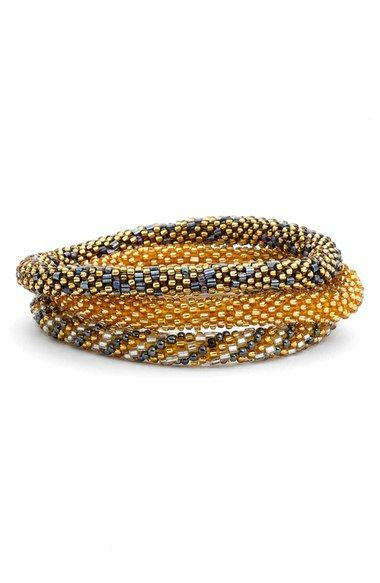 Aid Through Trade Roll-On® Beaded Stretch Bracelets (Set of 3) available at #Nordstrom