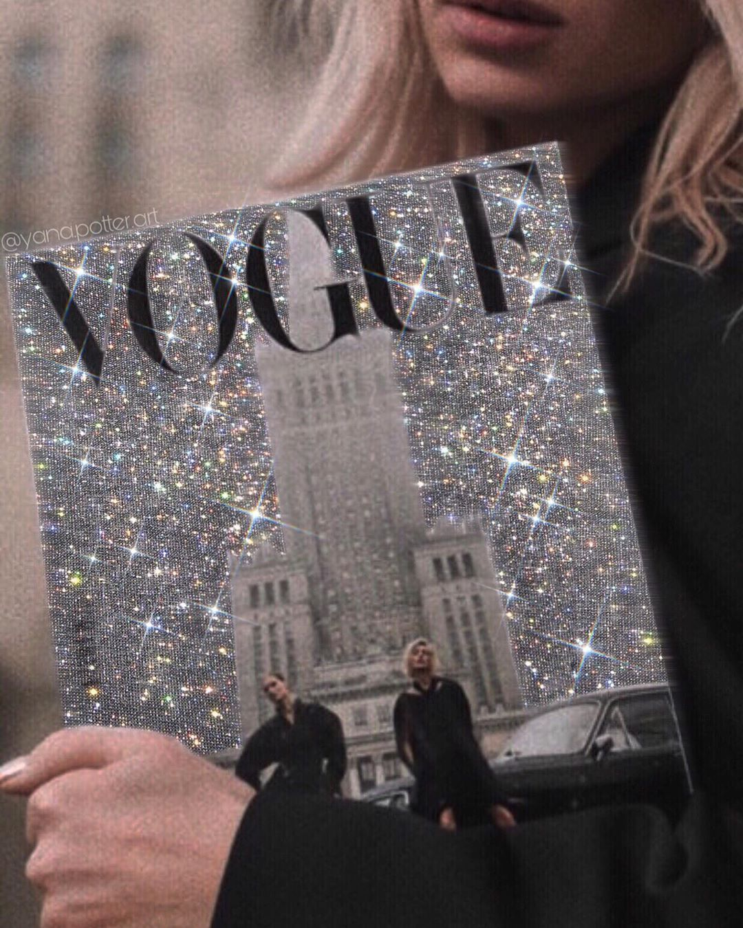 Vogue My Love May Be Someday Glittery Collageartists Artist Travel Instafashion Instagr Glitter Photography Glitter Art Aesthetic Collage
