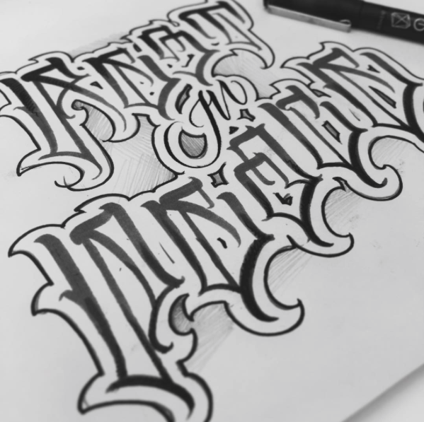 Lettering Tattoo Rest In Peace Lettering Graffiti Lettering Tattoo Lettering Fonts Tattoo Lettering