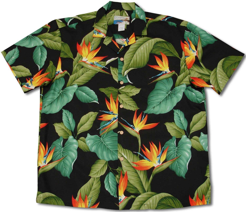 Paradise Found Waimea Casuals Mens Hibiscus Plumeria Shirt