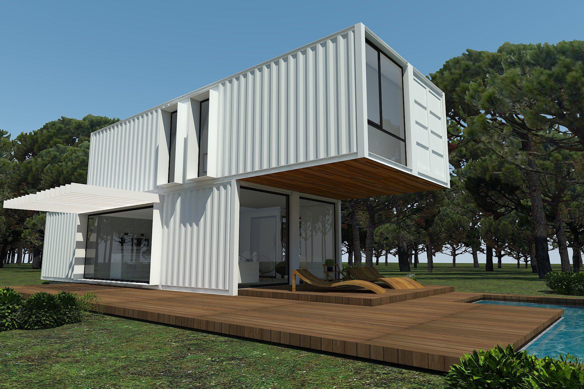 H kub casas prefabricadas en contenedores mar timos mi negocio pinterest contenedores - Casas hechas con contenedores maritimos ...