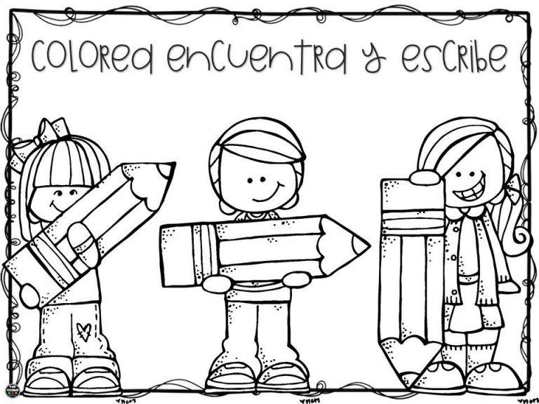 Colorea Encuentra Y Escribe Para Preescolar Primer Y Segundo Grado De Primaria Educacion Primari Preescolar Actividades Escolares Segundo Grado De Primaria