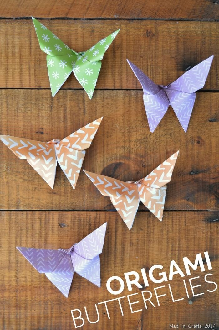 Simple Origami Butterflies Origami Easy Origami Butterfly Crafts