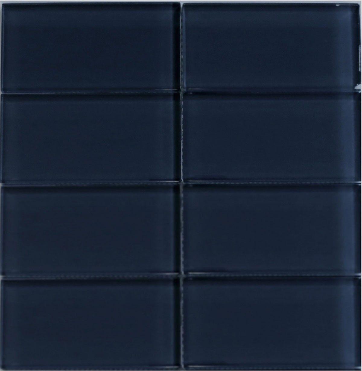 Lush 3x6 midnight dark blue glass subway tile subway tiles lush 3x6 midnight dark blue glass subway tile doublecrazyfo Gallery