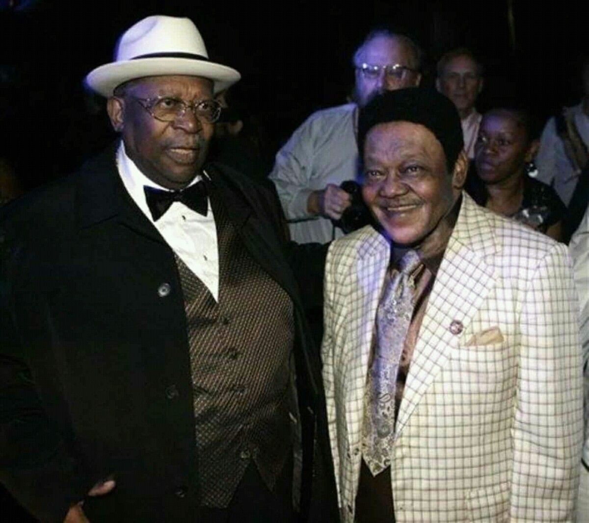 B B King And Fats Domino Walking In New Orleans