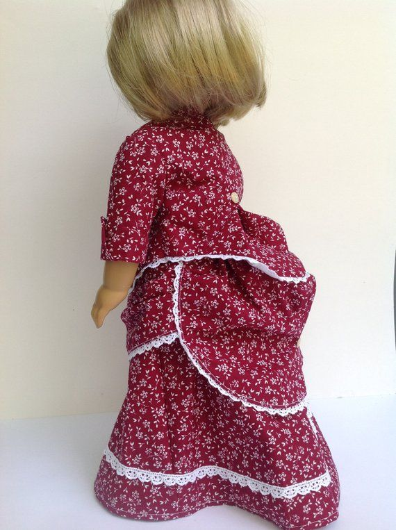 Victorian era dress historical doll fashion 18 inch doll | Etsy #historicaldollclothes