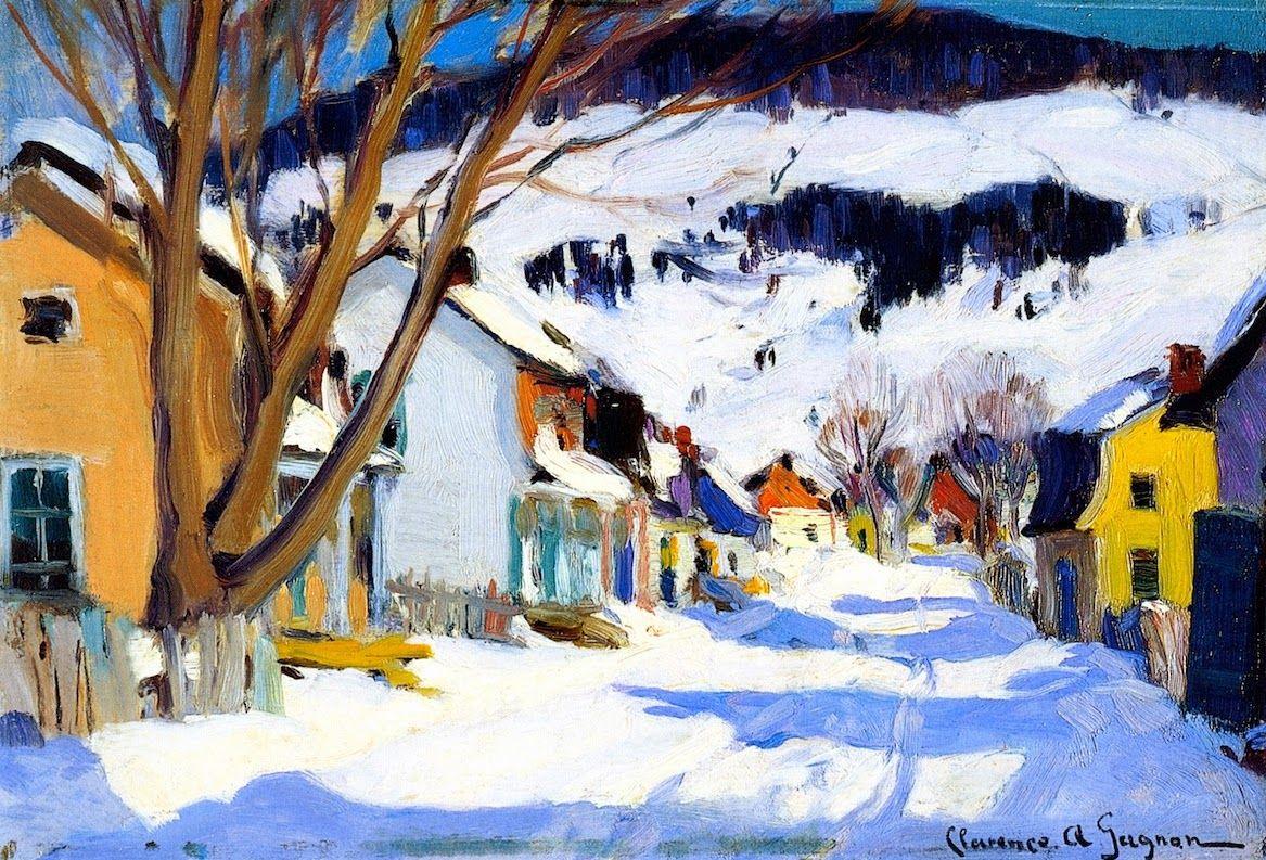 Clarence Gagnon A Quebecois Painter Art Canadien Paysage Hiver