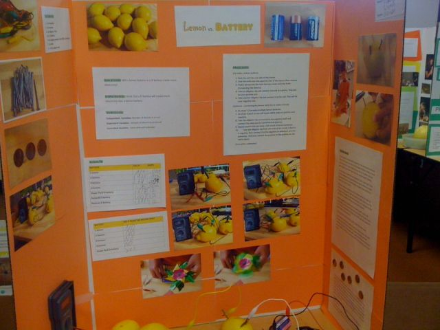 battery science fair projects Create a science fair project with fruit & veggies  generated by your homemade battery when designing your experiment, you'll need to pay.