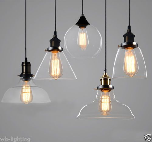 Modern clear glass ceiling lamp shade pendant light chandeliers modern clear glass ceiling lamp shade pendant light chandeliers fitting led bulb mozeypictures Image collections