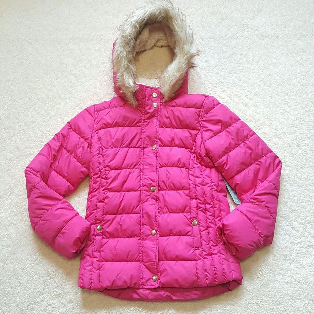 1ec439c5c Old Navy Girls Coat Punk Pink Size XL Faux Fur Hood Sherpa Lined NWT  Frost-Free #OldNavy #PufferJacket #kids #girls #school #fall #fallfashion  #winter #cool ...