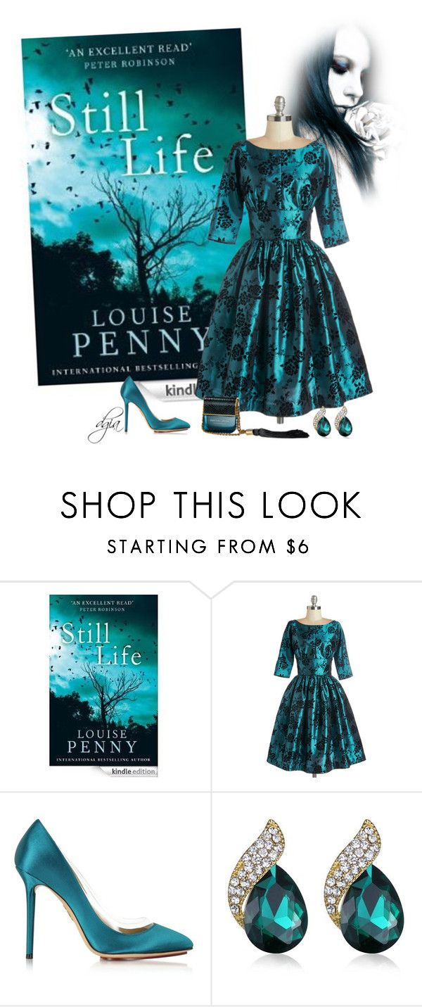 """""""Book Cover"""" by dgia ❤ liked on Polyvore featuring Charlotte Olympia, Marc Jacobs, women's clothing, women, female, woman, misses and juniors"""