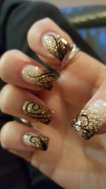 November Nails November Nail Designs November Nails Glitter Tip Nails