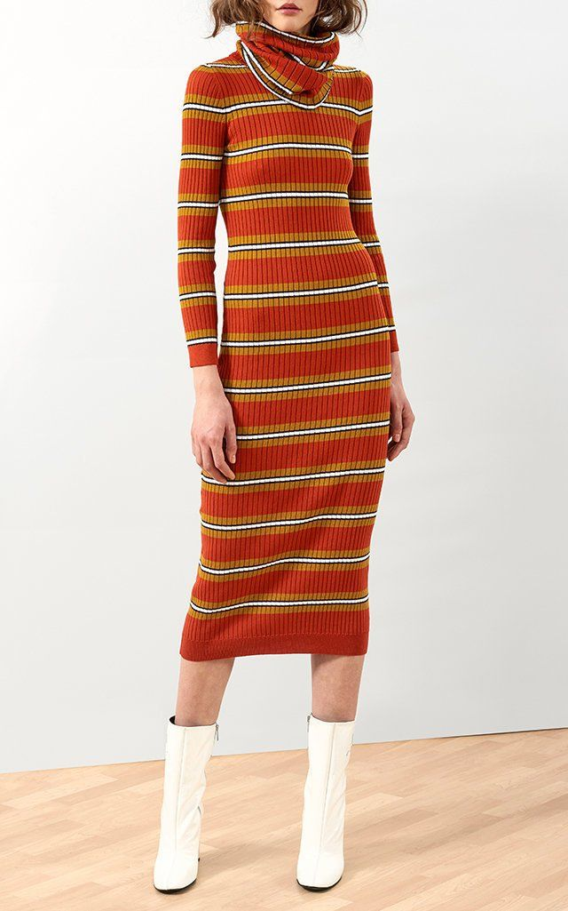 Detachable Collar Long Knit Dress Courr 6Ow0JMJ9E