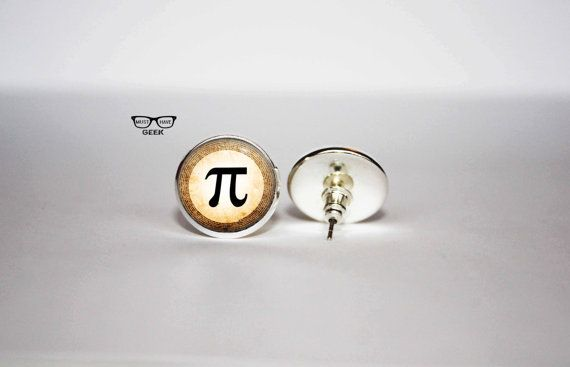 Pi Earrings Pi Sign Eyes Earrings Pi Symbol Stud Earrings Art