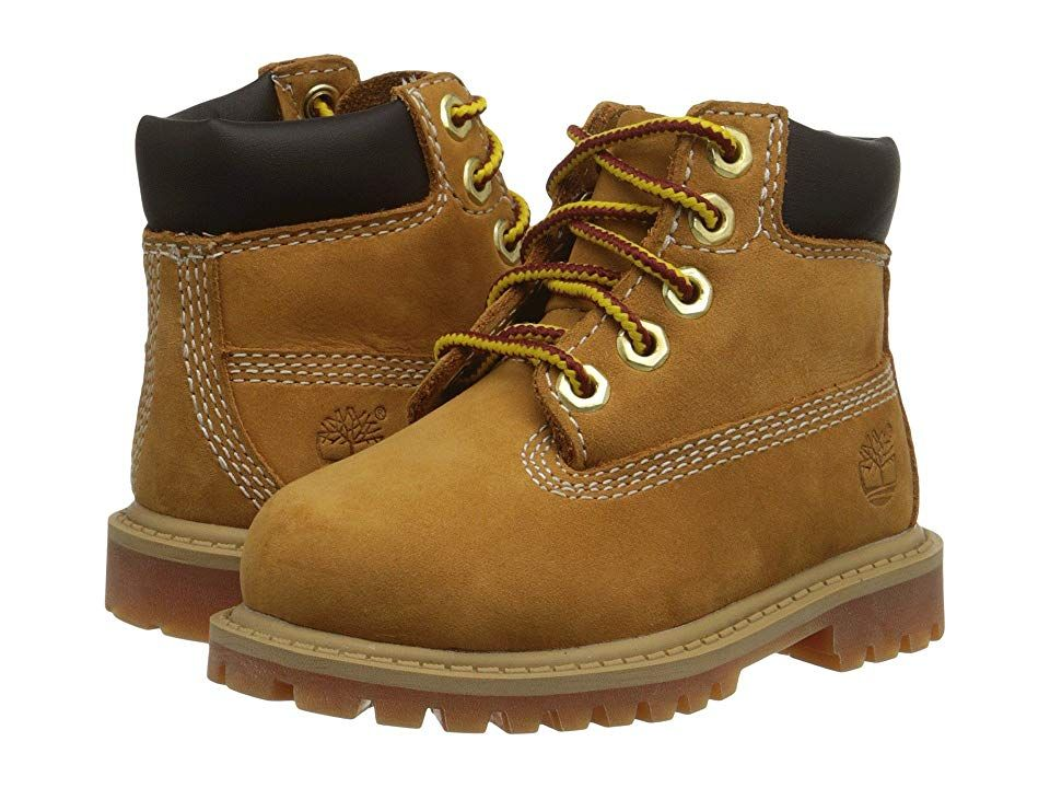 a48be75a8 Timberland Kids 6 Premium Waterproof Boot Core (Toddler/Little Kid) (Wheat  Nubuck) Boys Shoes. Wearing these boots is like having superpowers!