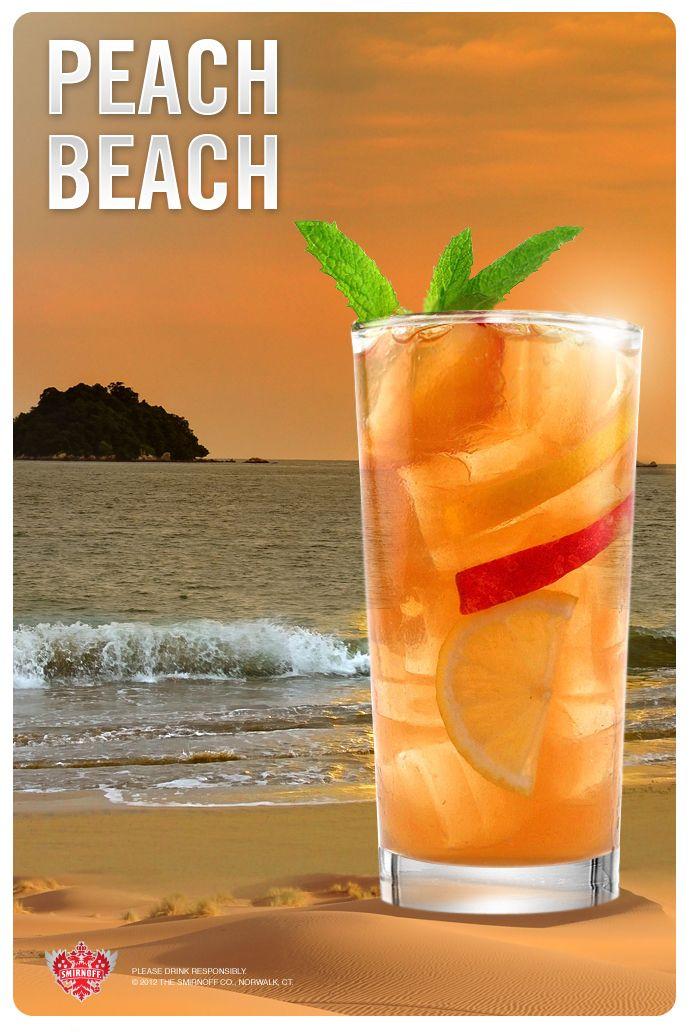 The Peach Beach Inspired By Sandy Shores Ingredients 1 5 Fl Oz Smirnoff Peach Flavored Vodka 2 Fl Oz Lem Flavored Vodka Drinks Peach Vodka Flavored Vodka