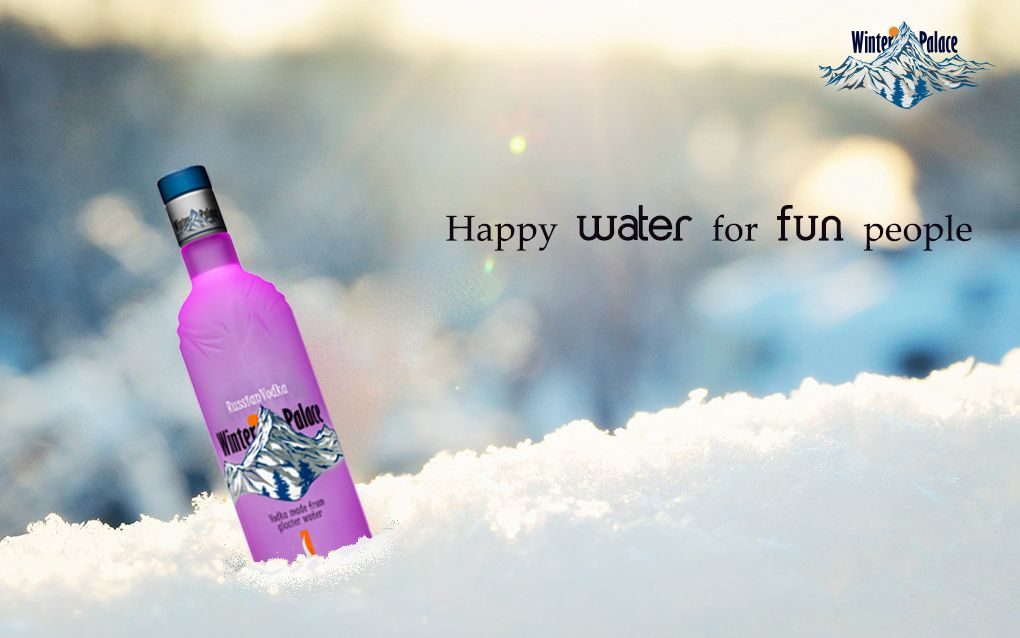 Why prefer water when you have vodka ! Winterpalacevodka