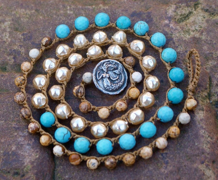 crochet wrap bracelet necklace