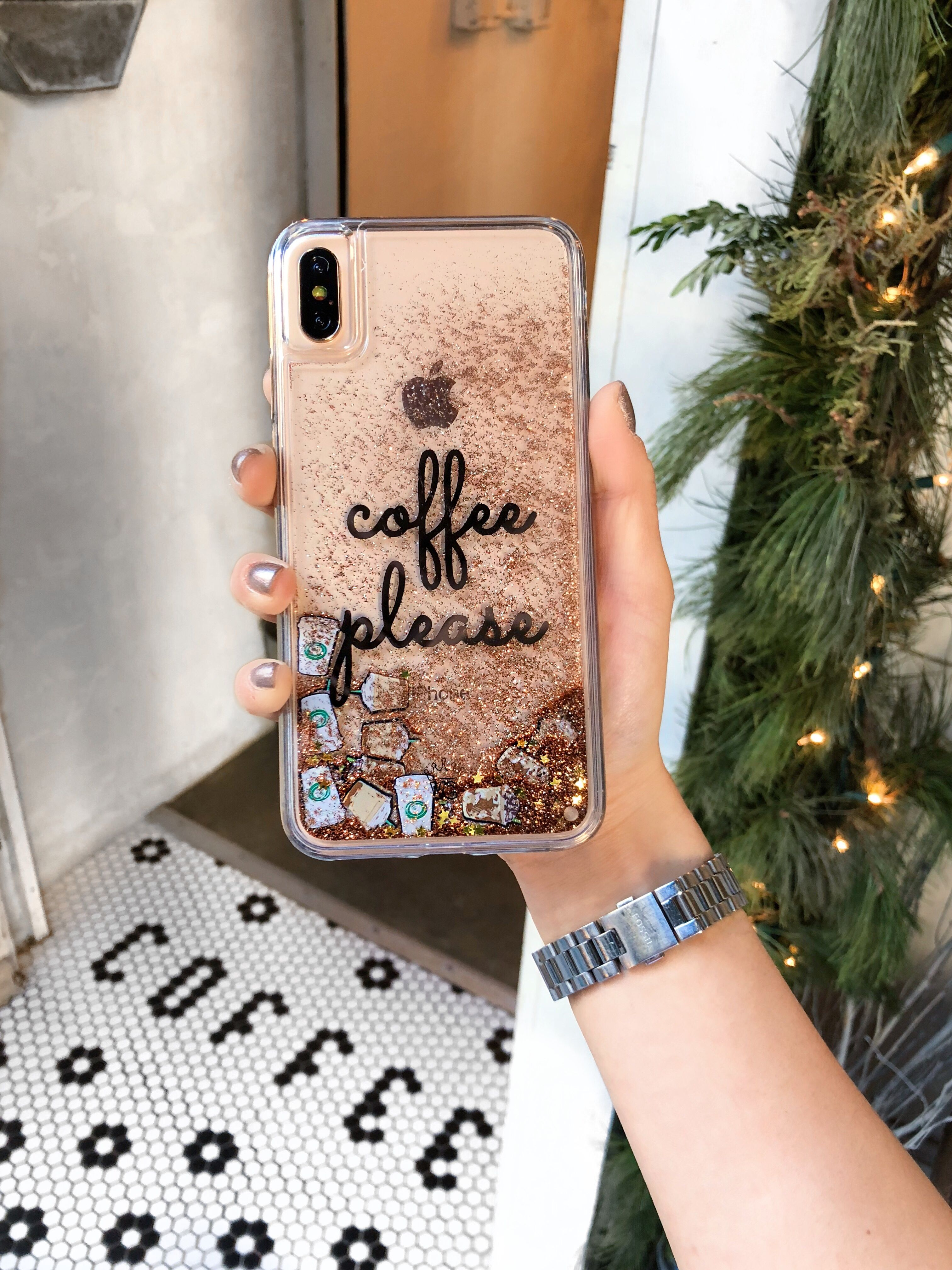 sports shoes cc2df 8a2bb Coffee Please Glitter iPhone Case in 2019 | iphone cases | Iphone ...