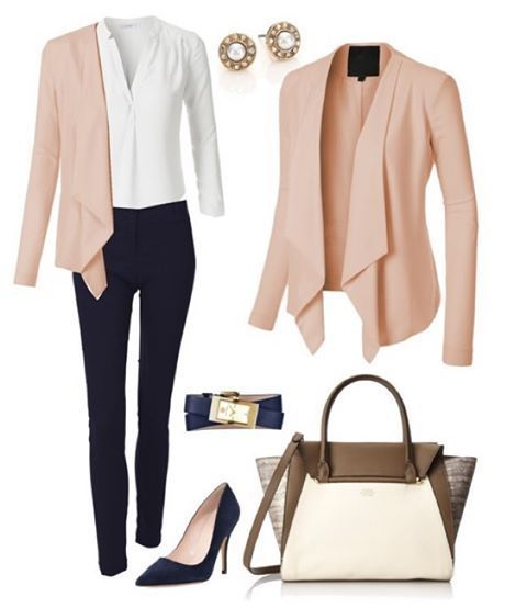 15 blush blazer spring outfits you need to try - Page 8 of 15 - stylishwomenoutfits.com #businessattire
