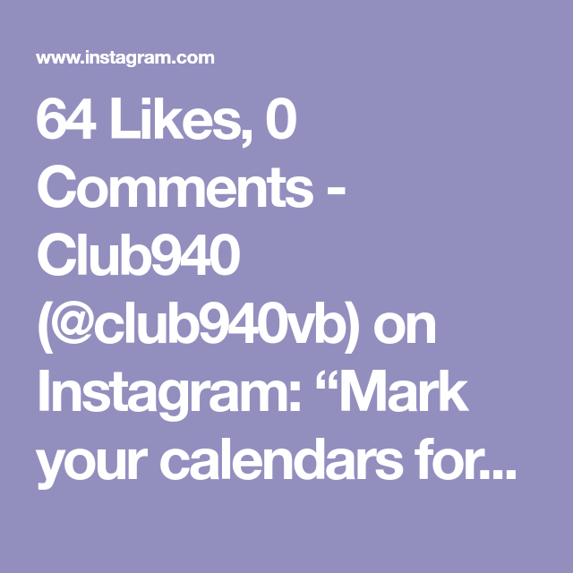 64 Likes 0 Comments Club940 Club940vb On Instagram Mark Your Calendars For Club 940 Official Tryout Date Registration Is Liv Calendar Instagram Dating