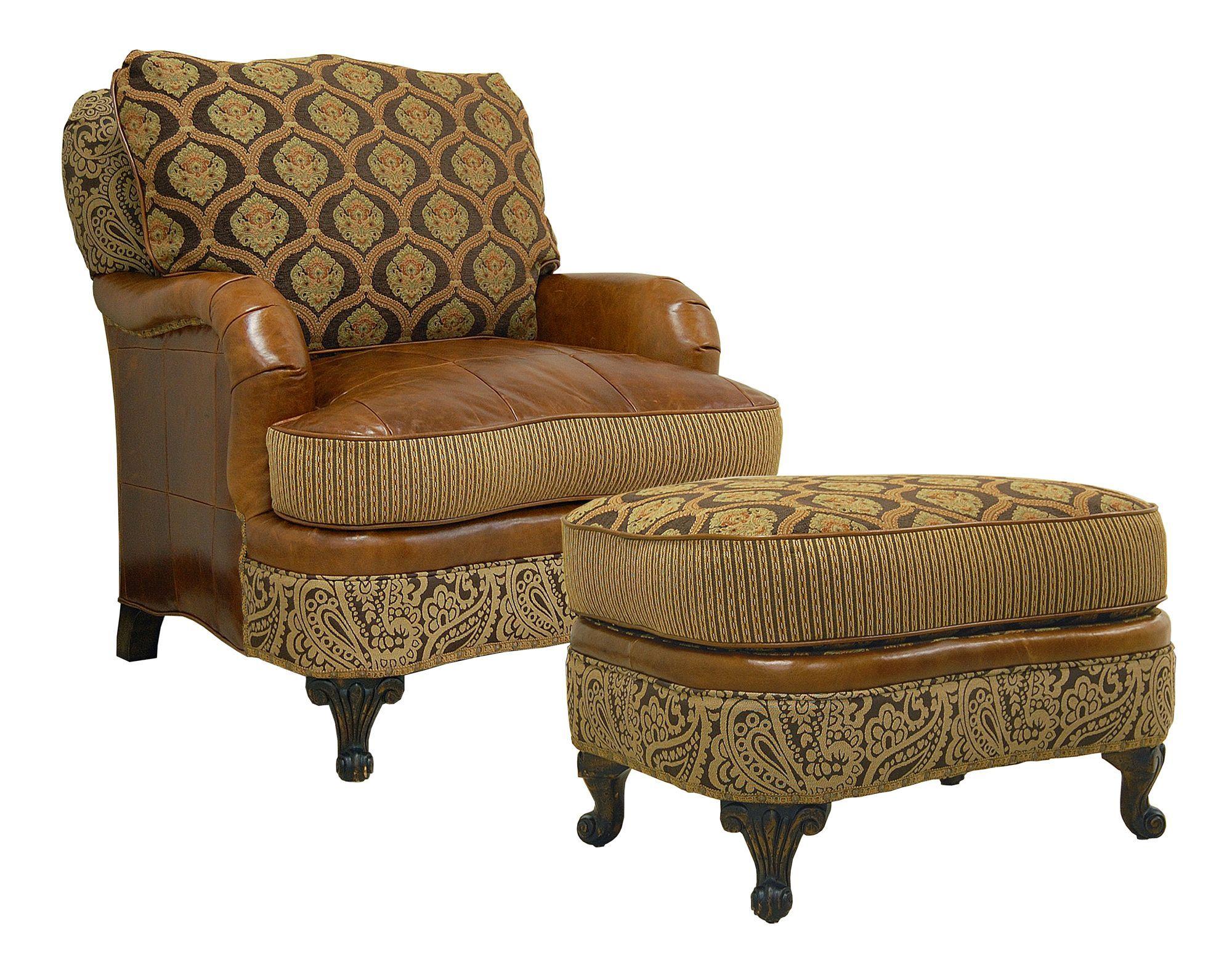 Jeffrey Zimmerman Furniture | The Jeff Zimmerman Collection Maxton Chair W  Ottoman (kcf Zimm