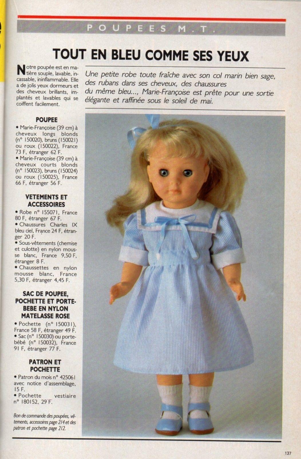 Page originale POUPEES MODES ET TRAVAUX mai 1986 | Jouets et jeux ...