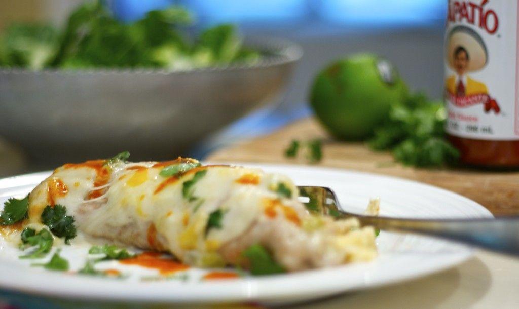White Chicken Enchiladas - Feeling Foodish