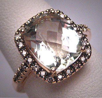 Vintage Green Amethyst Diamond Ring Wedding Art Deco Gold Filigree by AawsombleiJewelry on Etsy https://www.etsy.com/listing/225995759/vintage-green-amethyst-diamond-ring