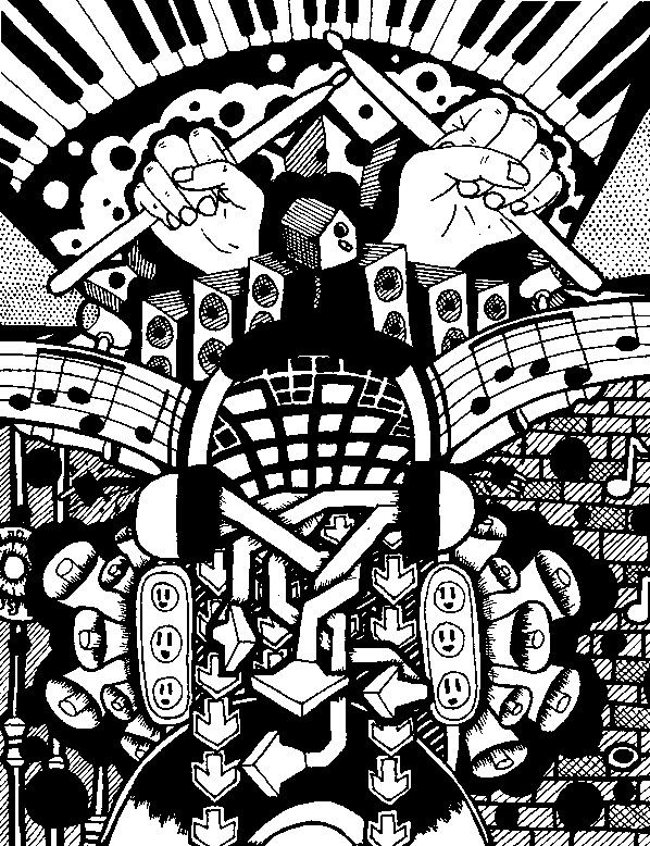 Adult coloring page Music Free