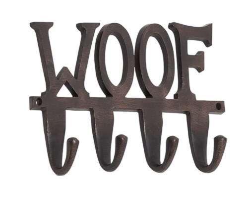 New Woof Aluminum Dog Leash Wall Hook Hooks Holder Dog