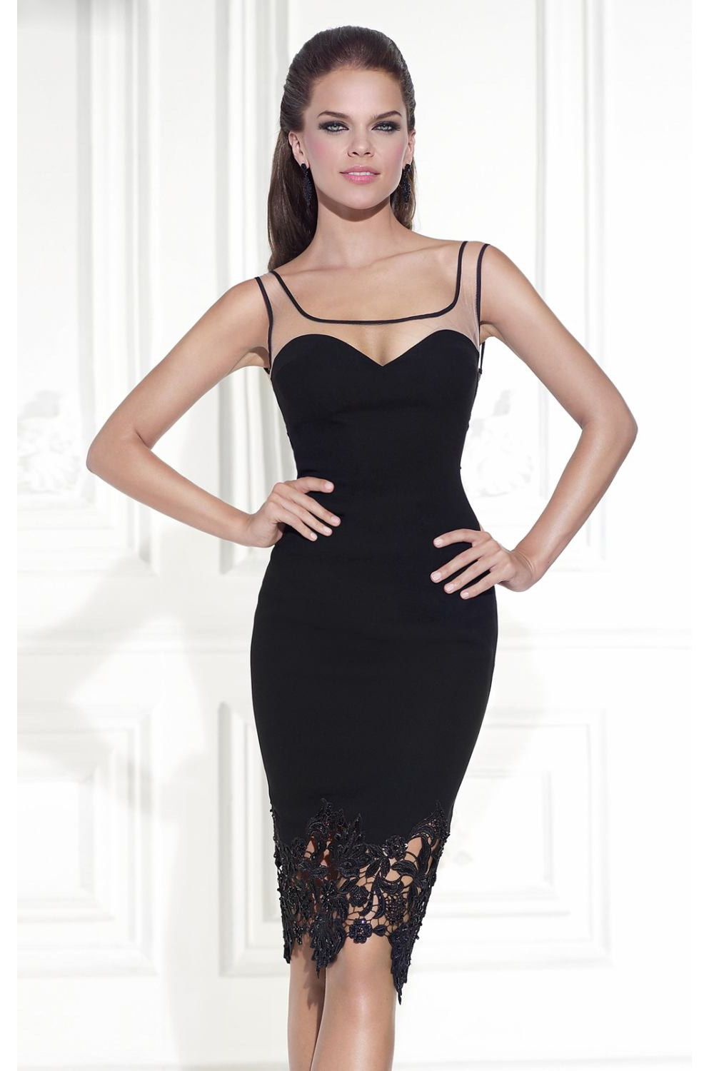 Lace kneelength cocktail dress ndress Đám cưới