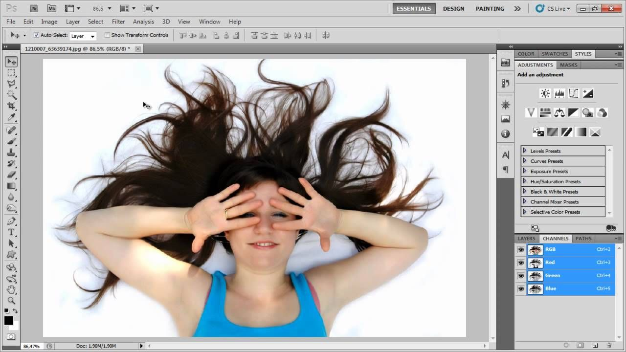 Como recortar una foto en photoshop cs5 93