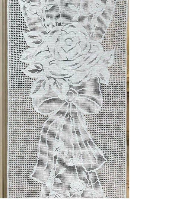Long Crochet Curtaingift Ideasliving Room Wedding