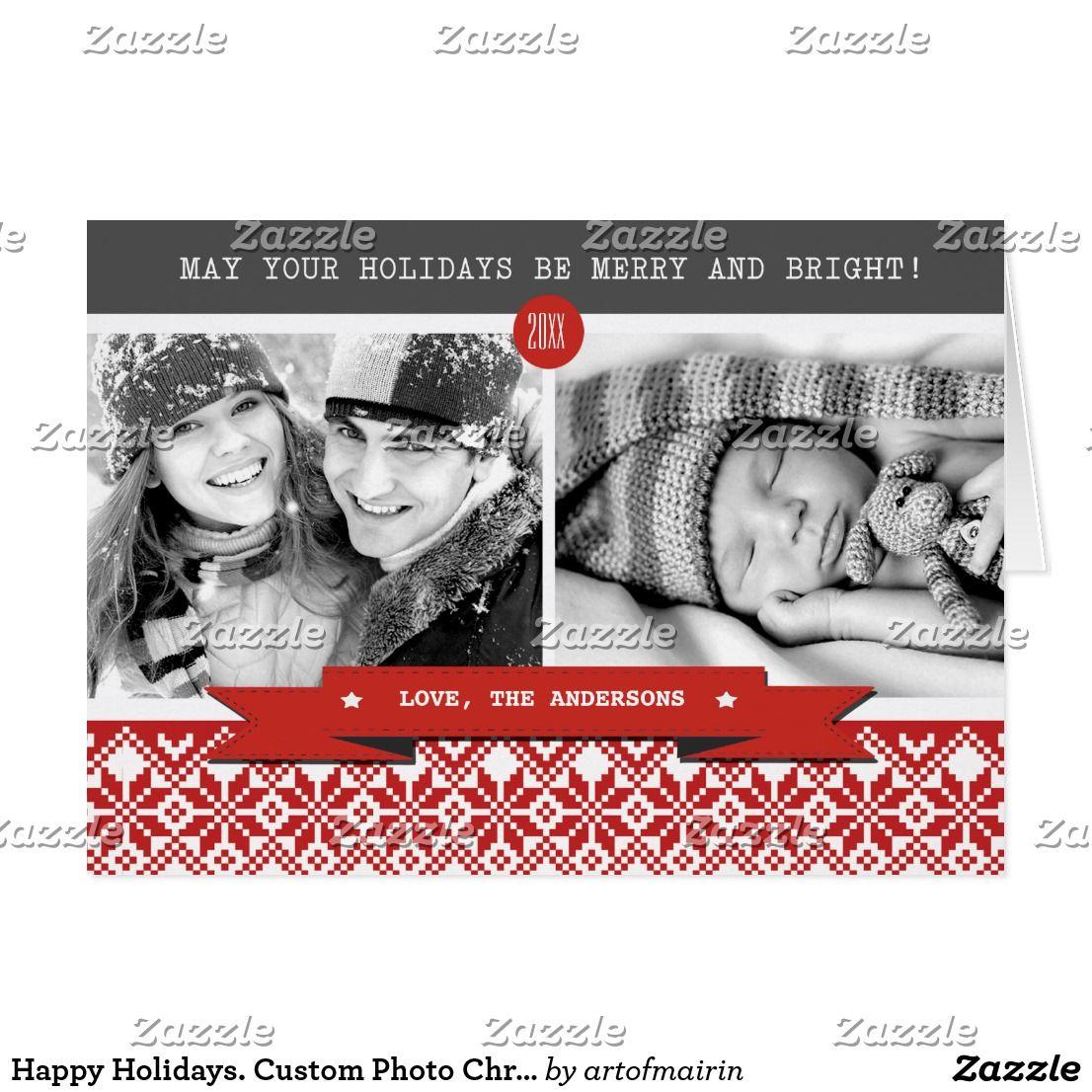 Happy Holidays. Custom Photo Christmas Cards Happy Holidays. Fun and ...