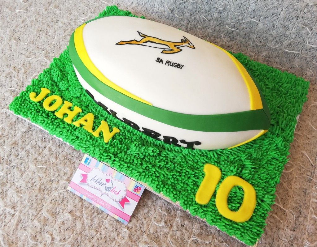 Springbok Rugby Ball Cake Rugby Party Rugby Cake Ball Birthday