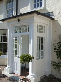 porch entry for georgian style - Google Search