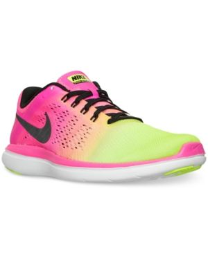 c2cb989bc7457 Nike Women s Flex 2016 Run Ultd Running Sneakers from Finish Line -  MULTI-COLOR MULTI-COLOR 8.5
