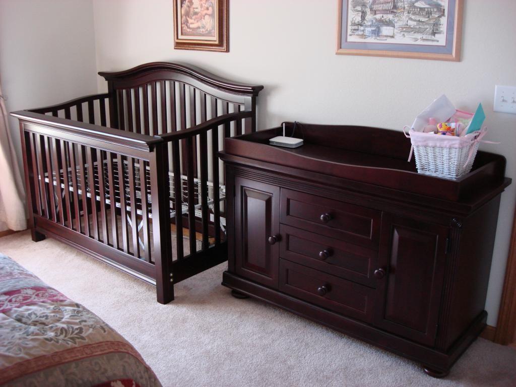 Crib Changing Table Dresser Set Wood Crib Crib With Changing