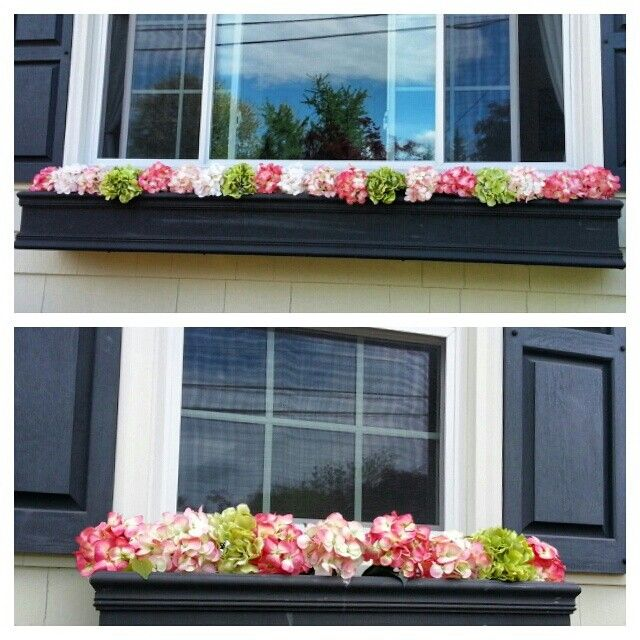 Spring Summer Window Boxes Fake Flower Look Real