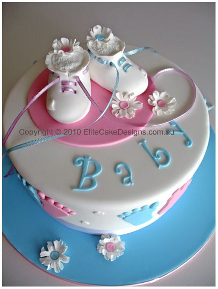 booties baby shower cake from elite cake designs  designed by, Baby shower invitation