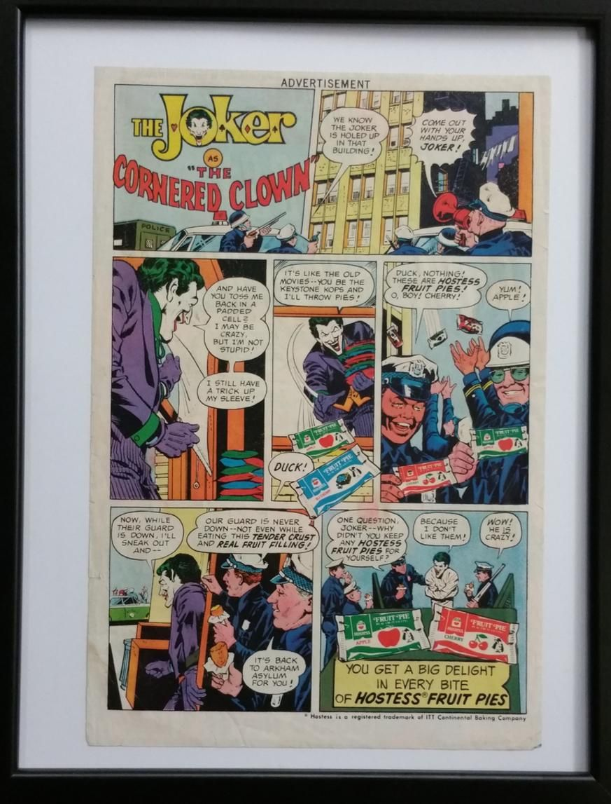 THE JOKER HOSTESS / DC COMICS AD 1977 Vintage comics