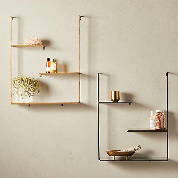 Spirit Brass Floating Ladder Shelf Reviews Cb2 In 2020