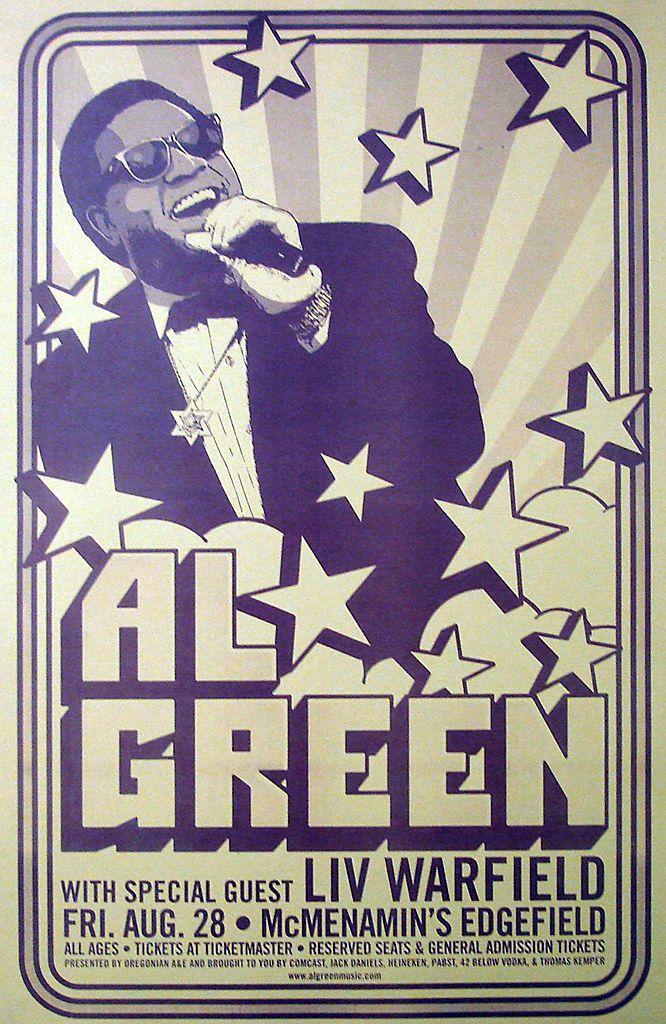 2009 Al Green Concert Poster (Portland, OR)