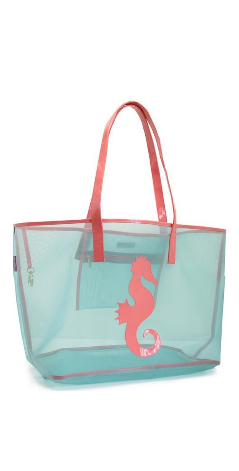 Lolo Flint Blue Watermelon Seahorse Madison Mesh Tote Bag MM14 ...